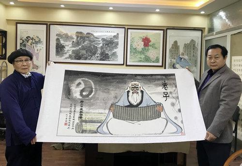 刘永钧道长走进中国周易新闻网进行文化交流